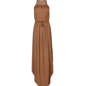 vestido marron largo